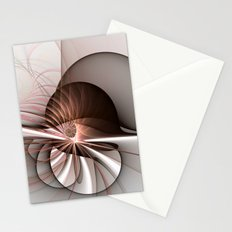 Abstract Snail Fractal Art Stationery Cards