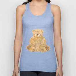 Yellow bear toy Unisex Tank Top