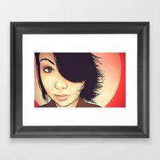 Red Sunset Framed Art Print