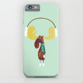 This moose is ready for winter iPhone Case