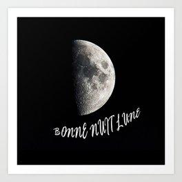 Bonne Nuit Lune Art Print