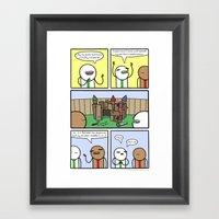 Antics #359 - constructive criticism Framed Art Print