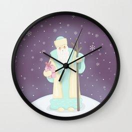 Russian Santa Claus Wall Clock