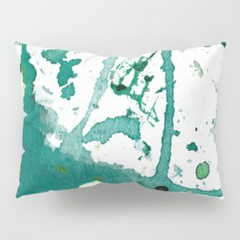 emerald green splash Pillow Sham