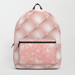 Luxury Rosegold Glitter Pearl Backpack