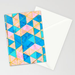 Marble Triangle Tile Nice (France) Stationery Cards