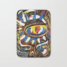 The Third Eye Primitive African Art Graffiti Bath Mat