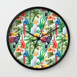 Parroted 2 Wall Clock