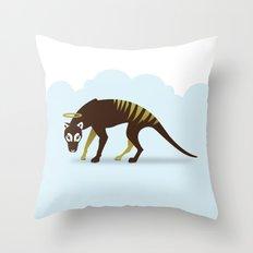 God's Zoo: Tasmanian Tiger Throw Pillow