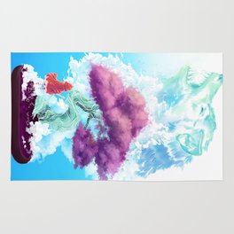 Riding in Clouds  Rug