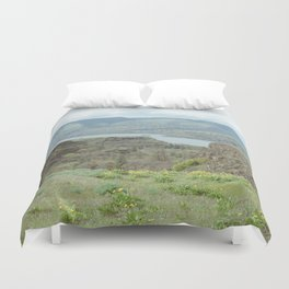 Tom McCall Preserve Looking Out at The Columbia River Gorge Duvet Cover