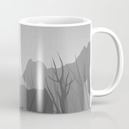 wall art black and white forest Coffee Mug