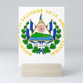 El Salvador Flag El Salvador Emblem Design Salvadoran graphic Mini Art Print