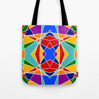 cracked Tote Bags featuring Cracked by MarkStantonDesign