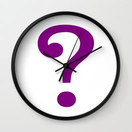 riddle this me Wall Clock