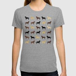 Labrador Retriever Dog Silhouettes Pattern T-shirt