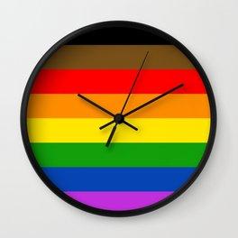 LGBTQ Pride Flag (More Colors More Pride) Wall Clock