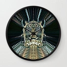 Meditating Tiger Wall Clock