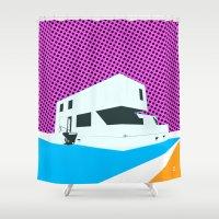bauhaus Shower Curtains featuring Bauhaus Meisterhaus Pop by Marko Köppe