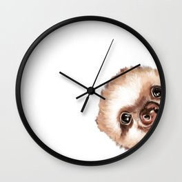 Sneaky Baby Sloth Wall Clock
