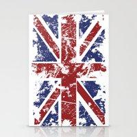 uk Stationery Cards featuring Grunge UK by Sitchko Igor