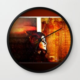 Away From The Sunset Wall Clock