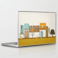budapest hotel Laptop & iPad Skins featuring The Grand Budapest Hotel  by Daniel long Illustration
