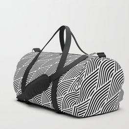 Modern Geometric Waves Duffle Bag
