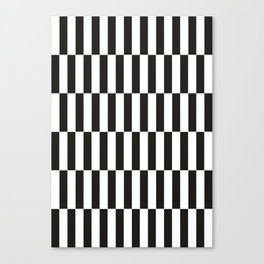 Black checkers scandinavian design Canvas Print