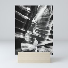 Waves of sandstone at Antelope Canyon Mini Art Print