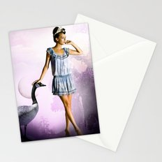 Purple Moon Stationery Cards
