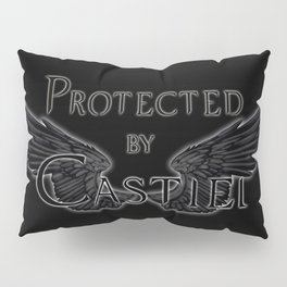 Protected by Castiel Black Wings Pillow Sham