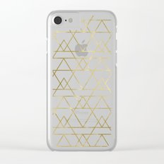 Modern Gold Clear iPhone Case