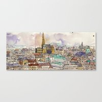 vienna Canvas Prints featuring Vienna by Eurekawanders
