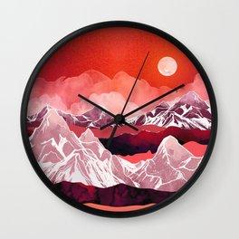 Scarlet Glow Wall Clock