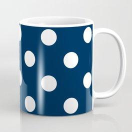 Polka Dots - White on Oxford Blue Coffee Mug