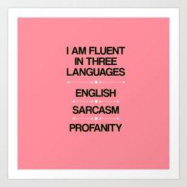 Language Proficiency Art Print