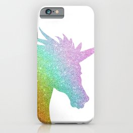 Rainbow Glitter Unicorn iPhone Case