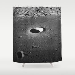 Apollo 10 - Moltke Moon Crater Shower Curtain