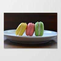 macaroon Canvas Prints featuring macaroon  by Allie Peplin