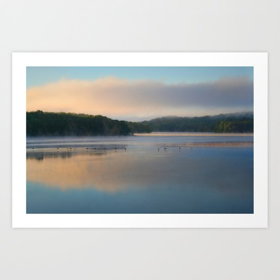 Sunrise on the Reservoir Art Print