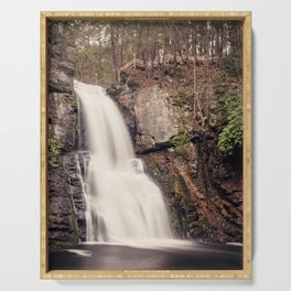 Bushkill Falls Waterfall, Pocono Mountains - Pennsylvania Serving Tray