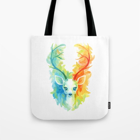 Feather Fawn Tote Bag