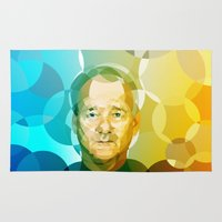 bill murray Area & Throw Rugs featuring Bill by Tom Johnson