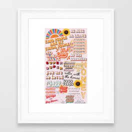 Orange Mood Framed Art Print