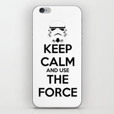 Keep Calm and use the Force iPhone Skin