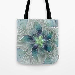 A Floral Fantasy, Abstract Fractal Art Tote Bag