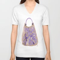 tote bag V-neck T-shirts featuring Tote 1 by ©valourine