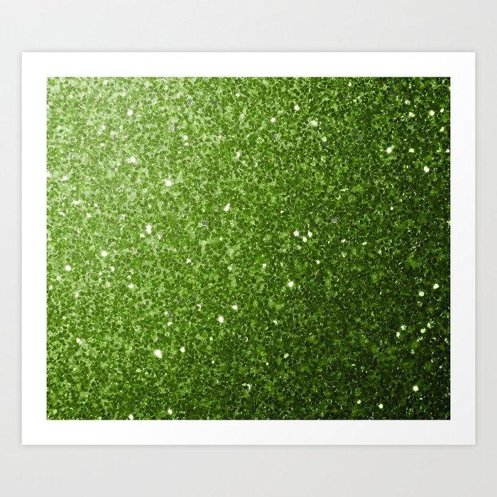 Beautiful Greenery Pantone glitter sparkles Art Print