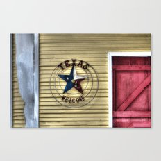 Texas Welcome Canvas Print